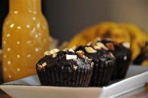 Čokoládovobanánové muffiny